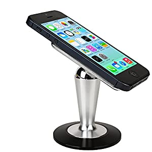 Cooper Pedestal Lava E Tab Connect / Connect+ / Ivory Velo+ Desk Tabletop Metal Display Stand (Non-Slip Base; Magnetic Steel Ball Attachment; 360-Degree Rotation; Reusable Panel Glue Pad)