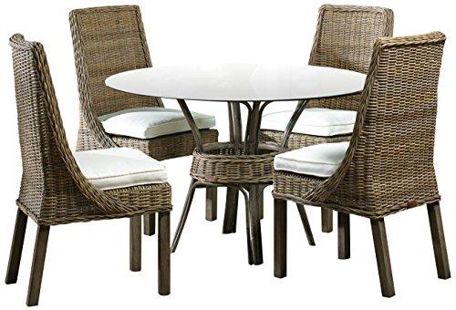 Panama Jack Sunrooms 6 PCPJS-3001-DIN Exuma 6 Piece Dining Set with Cushions, Rave Walnut