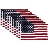 Cheap 10 PACK – 3×5 Ft USA American Nylon Printed Flag Stars Grommets Flag