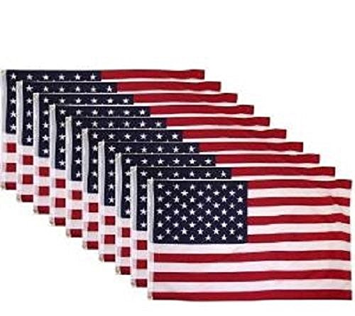 10 PACK - 3x5 Ft USA American Nylon Printed Flag Stars Gromm