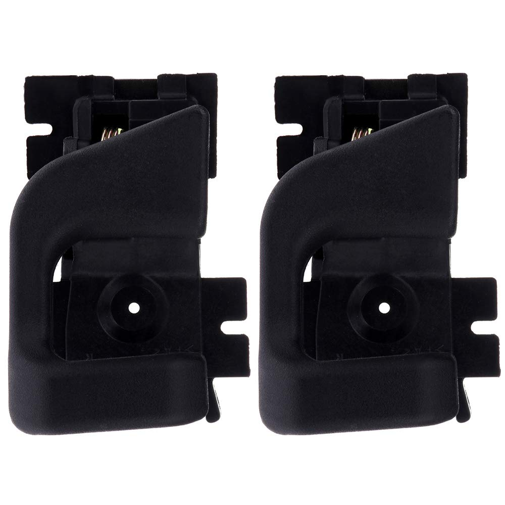 CCIYU Door Handles Interior Front Rear Passenger Side Replacement for 1989-1990 Ford Bronco II 1989-1991 Ford Ranger Pickup Black(2pcs)