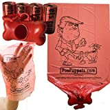 Whether your dog's dumps are HUGE like Trump's ego or TINY like his hands, PooPuppets Trump dog poop bags are simply the best at cleaning up the mess. Buy a pack for yourself and your politically active friends. #dumptrump, #nevertrump