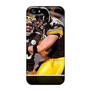 Iphone 5/5s Hard Back With Bumper Silicone Gel Tpu Case Cover Pittsburgh Steelers