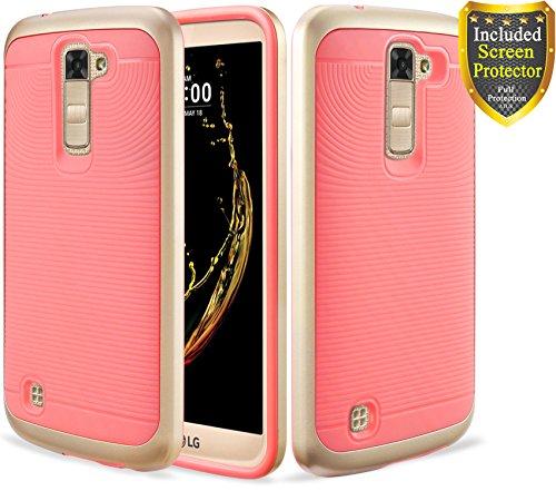 LG K7 Case, ATUS -- Slim Dual Layers [ Shockproof (Dual Layer Grip)