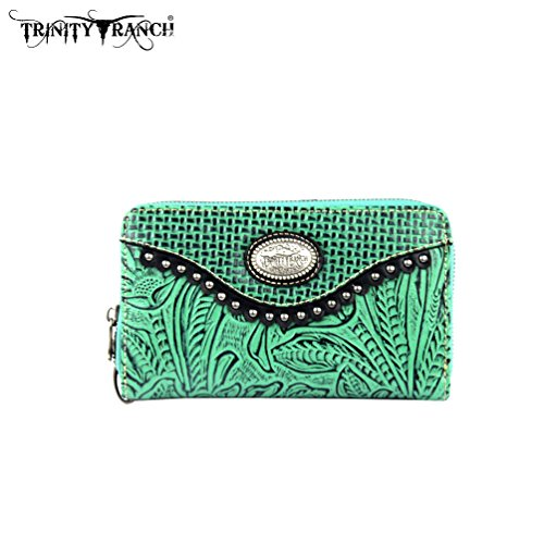 tr26-w003-montana-west-trinity-ranch-tooled-design-wallet-turquoise
