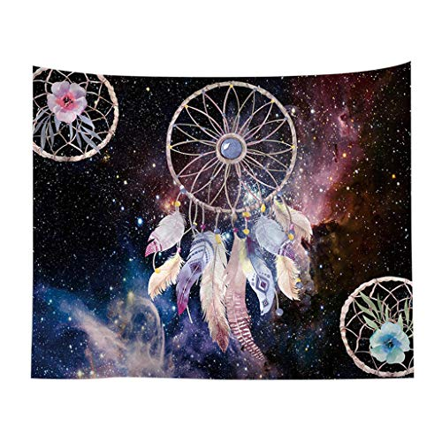 Yu2d  Colorful Dream Catcher Tapestry Bohemia Hippie Wall Hanging Bedspread Dorm Decor(Multicolor)]()