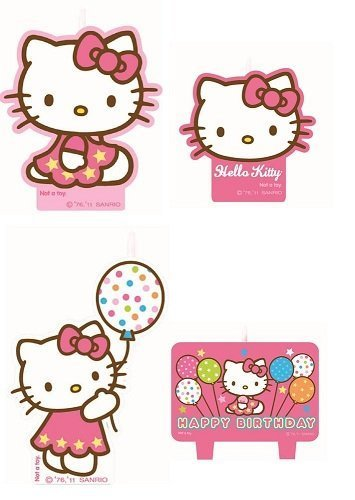 Hello Kitty Mini Molded Candles by Amscan