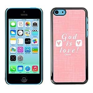 TaiTech / Hard Protective Case Cover - Love Jesus Christ Christian White - Apple iPhone 5C