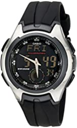 "Casio Men's AQ160W-1BV ""Ana-Digi"" Stainless Steel Watch with Black Band"