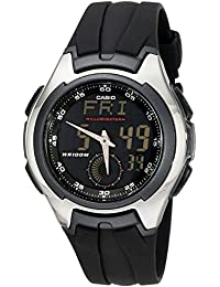 """Men's AQ160W-1BV""""Ana-Digi"""" Stainless Steel Watch with Black Band"""