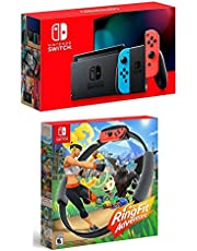Nintendo 32GB Nintendo Switch with Neon Blue & Neon Red Joy-Con Controllers - with Nintendo Ring Fit Adventure for Nintendo Switch