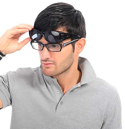 Duco Sunglasses for Men Over Glasses Sunglasses for Women Polarized Sunglasses 8953 (M Size Black Frame Gray Lens)