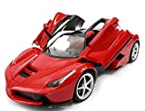 Magicwand 1:16 Scale Rechargeable Remote Controlled Ferrari with Opening Doors & Adjustable Front Wheel Alignment (Red)