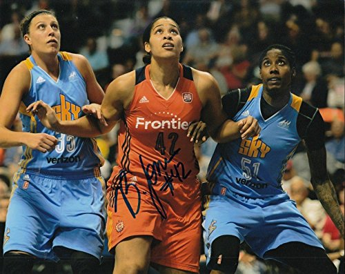 (BRIONNA JONES signed (CONNECTICUT SUN) WNBA basketball 8X10 photo W/COA #2 - Autographed WNBA Photos)
