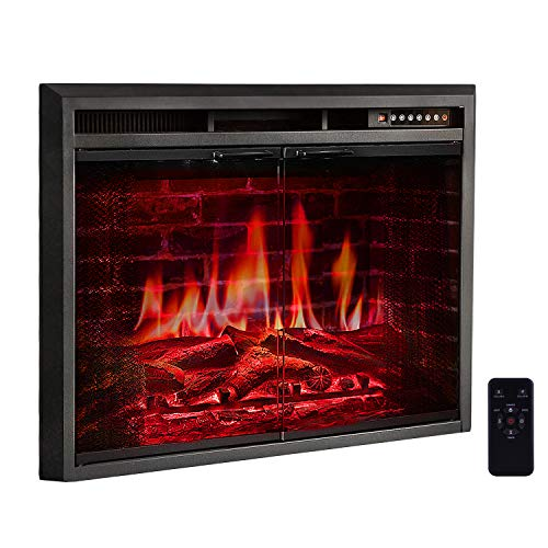 """R.W.FLAME 39"""" Electric Fireplace Insert, Traditional Antique"""