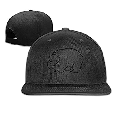 SunRuMo Men Women Flat Bill Hat, Polar Bear Hip-Hop Plain Adjustable Snapback Hats Caps from SunRuMo