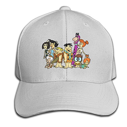 ZOENA The Flintstones Cotton Hats B-boy Snapback Hat For Outdoor Sports Ash