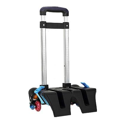 vendita calda online 5072e 21f93 Carrello per zaino di scuola - Carrello con ruote Carrello in alluminio per  carrello rotelle Lega di alluminio (blu, 6 ruote)