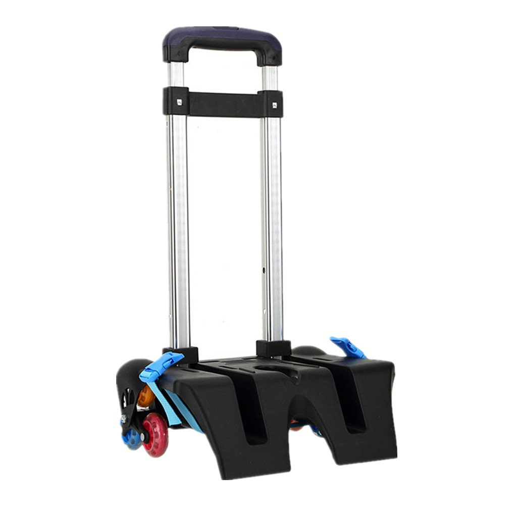 Backpack Trolley Wheeled Trolley - Hand Aluminium Alloy Folding Trolley Cart