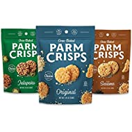ParmCrisps, Made From 100% Real Parmesan Cheese, Gluten Free, Sugar Free, Keto Friendly,3 Flavor Variety Pack, 1.75oz Bags (Pack of 12)