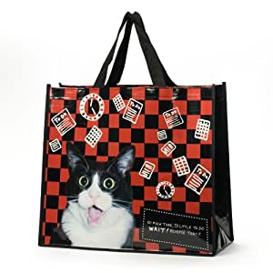 Enesco hoots 39 n howlers cat tote arts crafts for Arts and crafts tote bags