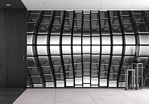 wall26 - Metal Silver Abstract Luxury Background 3d Illustration - Removable Wall Mural | Self-adhesive Large Wallpaper - 100x144 inches by wall26 (Image #5)