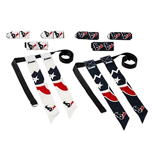 Franklin Sports Houston Texans Flag Football Set - 8 Flag Belts - 8 Player - Self Stick Tear-Away Flags - NFL Official Licensed Product