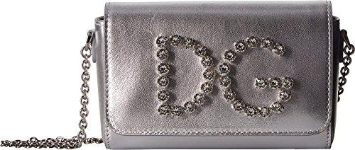 Dolce & Gabbana Kids Women's Metallic Handbag Argento One (Dolce & Gabbana Leather Flats)