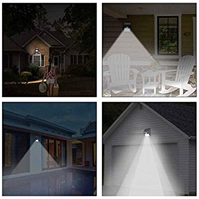 Solar Lights Outdoor 20 LED Motion Sensor Solar Lights with Wide Lighting Area Outdoor Security Night Light for Garden,Yard,Wall,Patio,Deck,Steps (4-Pack)