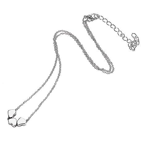 Amazon.com: WoCoo Collar de Corazón, 3 Corazones Collar para ...