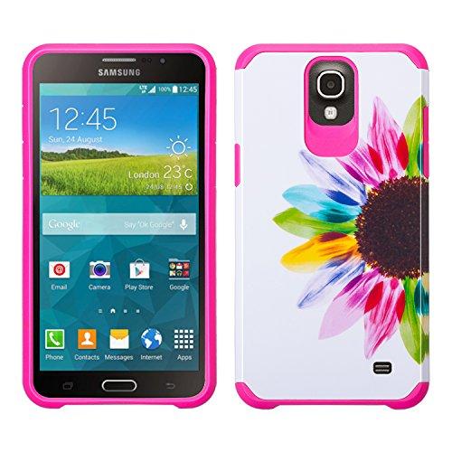 Samsung Galaxy Mega 2 G750 Case - Wydan Slim Hard Hybrid Shock Resistant Absorbant Tough Phone Case Cover - Colorful Sunflower