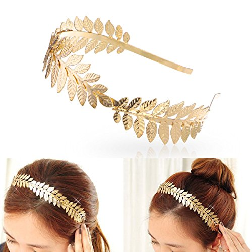 SALOCY Headbands Leaf Branch Bridal Hair Crown Head (Goddess Tiara)