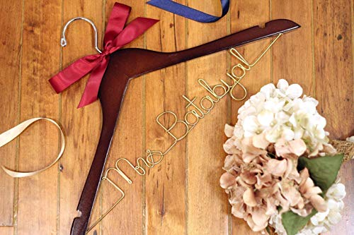 Bridal Hanger, Wedding Hangers, Personalized Bride Hanger, Unique Hanger, Mrs Hanger, Custom Hanger -