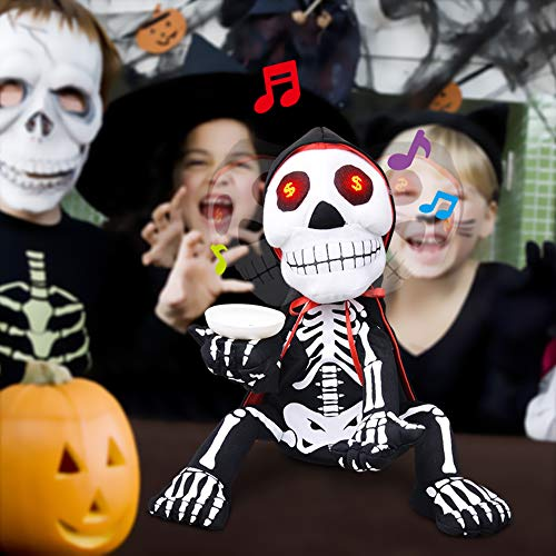 LUKAT Funny Halloween Decoration Skeleton Entertaining Toy for Kids Halloween Party Shaking & Singing