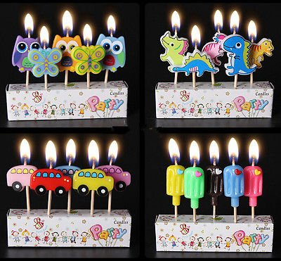 Decorative Decorative - 5pcs Kids Birthday Cake Candles Cartoon Party Assorted Colored Flames Safe Taper Per Decorations - Ballerina Birthday Birthday Cake Cupcake Birthday Zoo Cartoon -