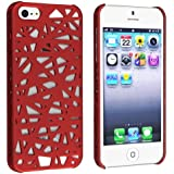 eForCity Snap-on Case Compatible with Apple? iPhone? 5, Red Bird Nest Rear