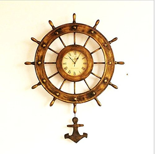 AYYA Antique old rudder bell home accessories creative personality wall clock