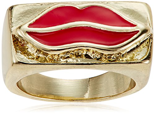 Funky Fish Ring for Women (Black and Golden) (I-638_F7297473288575)
