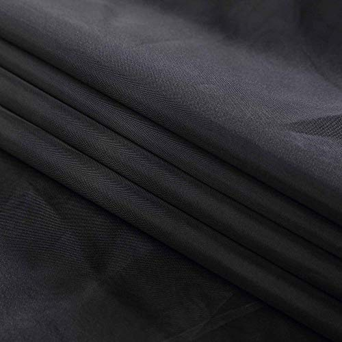120'' Wide (10ft Wide) x 120 Yards Roll - Black Sheer Voile Chiffon Fabric - Perfect for Draping Panels and Masking for Weddings & Events by Sedona Designz (Image #1)