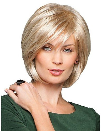 [Wigs have an attractive convenience fashion Beautyful Capless Short Straight Mono Top Human Hair Wigs Eight Colors to] (Hollywood Celebrities Halloween Costumes)