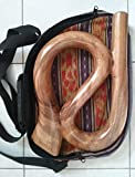 Unique! Travel S-Shape Didgeridoo Hand-carved Wooden with FREE BAG!