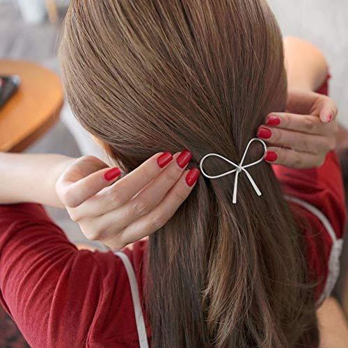 Yu2d  Geometric Openwork Butterfly Hairpin Hair Clips Headdress Hair Accessories SL(Silver)