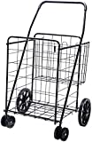 LS Jumbo Deluxe Folding Shopping Cart with Dual