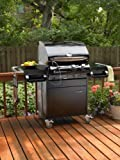 Outdoor GreatRoom Company JAG24C Cook Number 24-Inch Gas Grill and Cart in Porcelain Black (LP) Outdoor GreatRoom Company