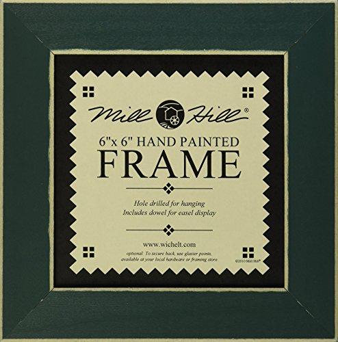 Mill Hill Wooden Frame, 6 by 6-Inch, Matte - Green Matte