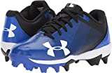 Under Armour Boys Leadoff Low Jr. RM Baseball Shoe, Black (041)/Team Royal, Little Kid 3 US