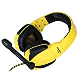 HUAN Gaming Headphones, Over-Ear Headphone Headset Headband with Mic,for PC Computer Game with Noise Cancelling (Color : 1)