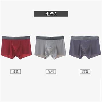 Ropa interior Verano hielo perfecta Mens Underwear hombres boxeador transpirable masculina Boxer juvenil pantalones cómodos transpirable