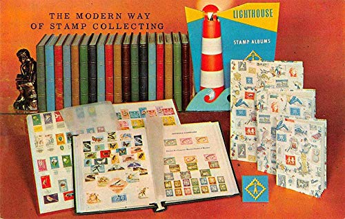 Lighthouse Stamp Albums Philatelic Advertising Vintage Non-PC Back JE228953