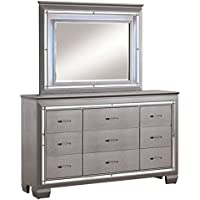 Furniture of America Rachel 9 Drawer LED Dresser and Mirror Set